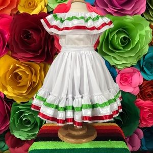 Mexican toddlers Jalisco folkloric dress size 1-2